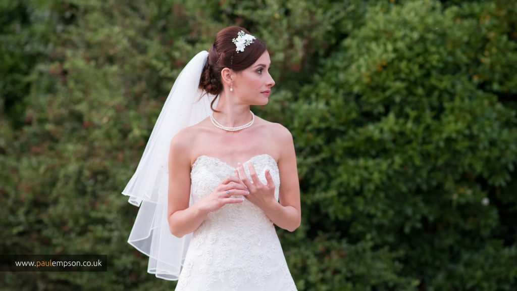 Beautiful picture by Paul Empson of the bride at The Treebridge Hotel & Restaurant.