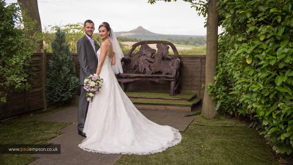 The Bride & Groom with views of Roseberry Topping