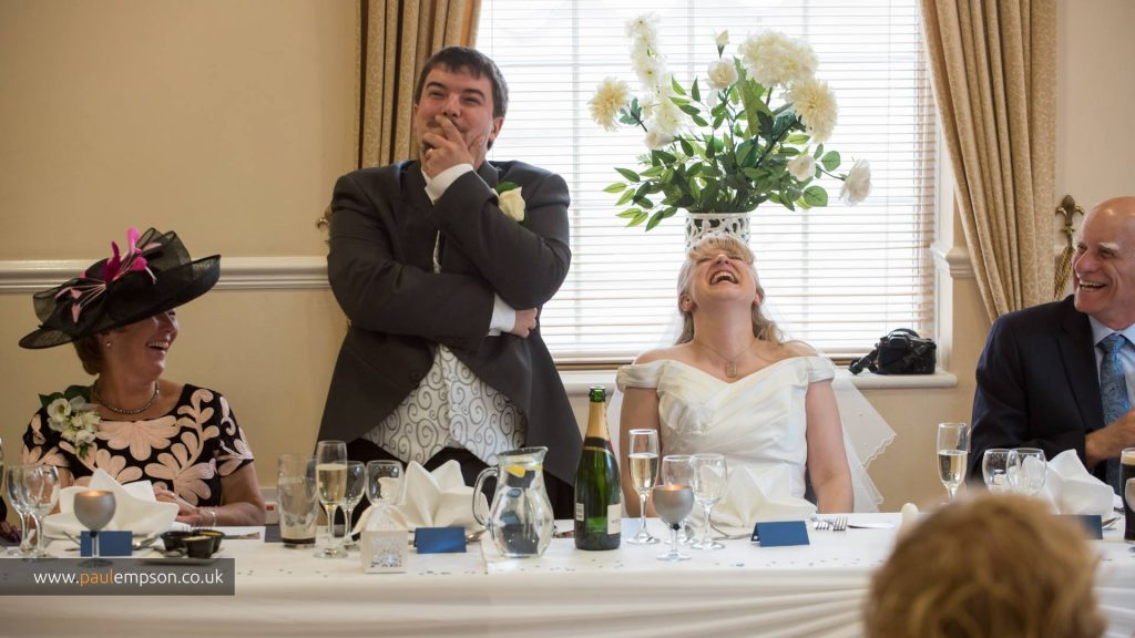 The grooms speech.