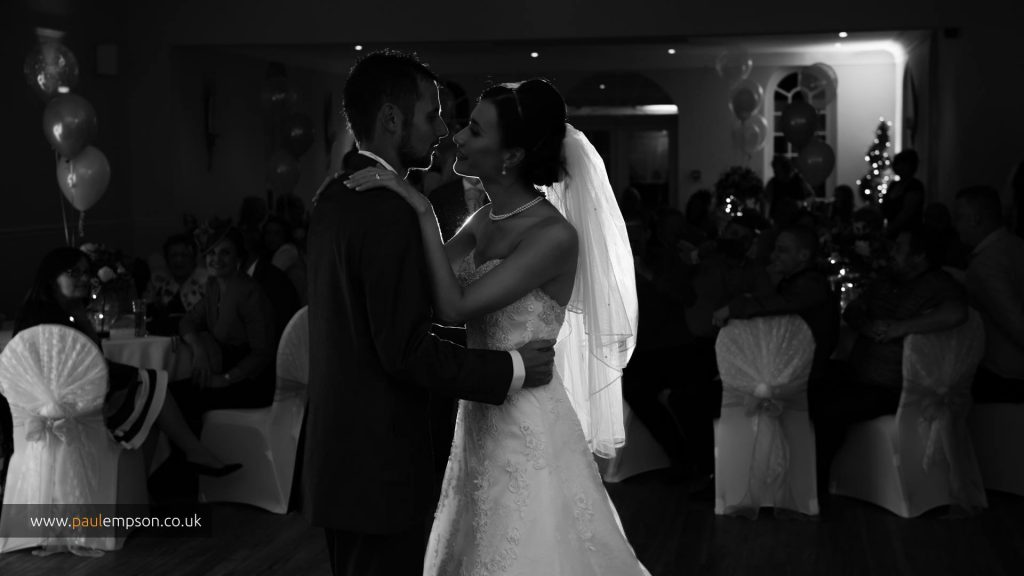 A first dance for the loving couple.